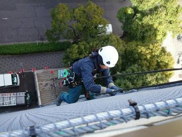外壁剥落防止対策ネット/名古屋市04