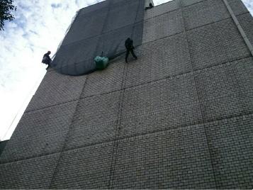 外壁剥落防止対策ネット/名古屋市01